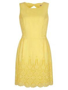 Embroidered Hem Cotton Dress