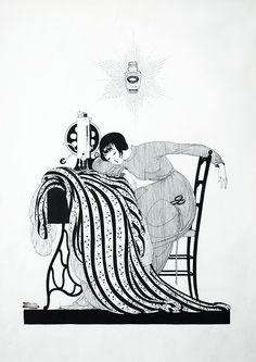 Sweet dreams everyone! The Sleeping Seamstress, Ad for Globéol…