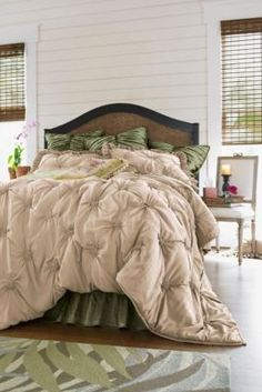 Lombardi Smocked Coverlet from Soft Surroundings
