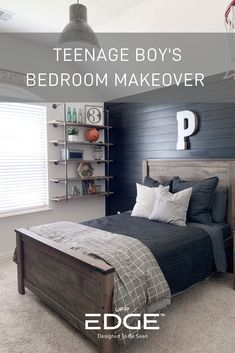 Boys bedroom ideas Black shiplap Basketball bedroom Kids bedroom Farmhouse k Teenage Bedroom Decorations, Boys Bedroom Decor, Boy Bedroom Designs, Boys Bedroom Paint, Boys Bedroom Furniture, Teen Boys Room Decor, Mens Room Decor, Home Decor, Big Boy Bedrooms