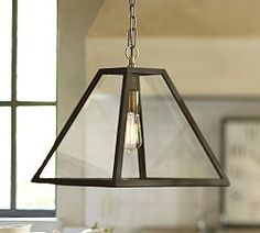 Crystal Chandelier Lighting & Pendant Lighting | Pottery Barn - Greenhouse Pendant