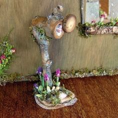 Fairy Mailbox - so cute!  ********************************************  FairyFurnishings via Etsy - #fairy #garden #miniature #dollhouse #mailbox hh