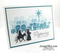 Stampin' Up! Night in Bethlehem Handmade Christmas Card