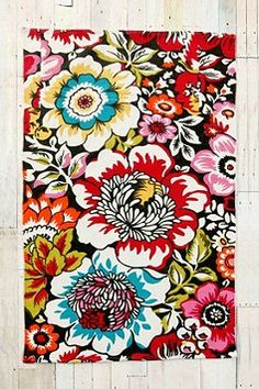 $44 Big Garden Printed Rug- Mum its that rug from that picture you pinned! Just click the picture to find it!