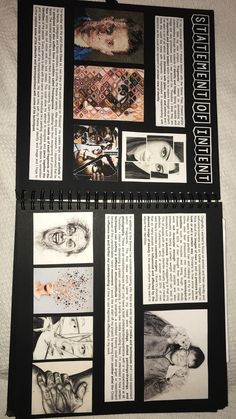 we're all made up of people that influence us – A Level Art Sketchbook - Water Textiles Sketchbook, Gcse Art Sketchbook, A Level Art Sketchbook Layout, Photography Sketchbook, Book Photography, Photography Reflector, Photography Hacks, Photography Magazine, Artist Research Page