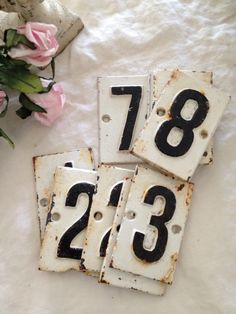 House numbers.