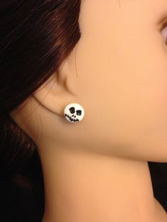 Jack Skellington Face Earrings by MischievousArtistry on Etsy