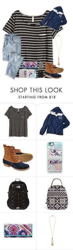 """Supposed to rain a TON tomorrow and I am SUPER busy!"" by bowhunter1498702 ❤ liked on Polyvore featuring H&M, J.Crew, L.L.Bean, Casetify, The North Face, Vera Bradley, Croft & Barrow and Miriam Haskell"