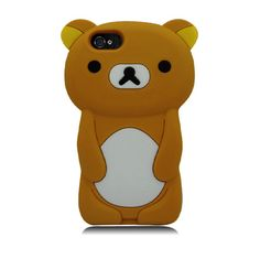 Kuma Bear 3D Silicone Case for iPhone 5/5S/5C - Brown