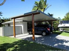 Carport Carport attached Carport car ports C ., Garage Attached garage Covered Parking Ports Garage Designs Carport diy Though historical around concept, your pergola is experiencing somewhat of a modern-day renaissance all these days. Modern Carport, Carport Garage, Pergola Carport, Wood Pergola, Pergola Plans, Diy Pergola, Pergola Kits, Carport Canopy, Car Porch Design