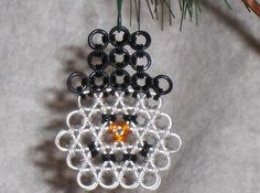 Chainmaille Snowman by RingWeaverB on Etsy