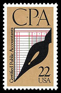 This stamp celebrates the 100th anniversary of the accounting profession in the United States.