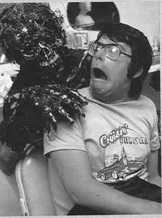 Quint here with today's Behind the Scenes Pic! I've made no secret of my love of Stephen King, so today's picture shouldn't be a surprise. Stephen King plus drowned zombie from Creepshow equals total happiness. Stephen King It, Steven King, Scene Photo, Movie Photo, I Movie, Space Ghost, Michael Myers, Freddy Krueger, Scary Movies