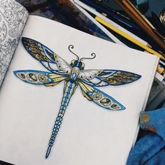 The 62 Best Coloring Dragonfly Images On Pinterest
