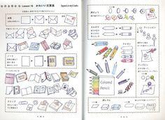 Ball-Point Pen Illustration Japanese Drawing by JapanLovelyCrafts