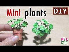 DIY Miniature Plants for Dollhouse How to make Mini Plants for Doll Dollhouse Miniature Tutorials, Miniature Dolls, Diy Dollhouse Miniatures, Miniature Houses, Mini Plants, Miniature Plants, Barbie Furniture, Barbie House, Miniture Things