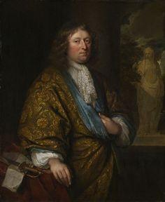 """""""Portrait of a Gentleman"""" by Caspar Netscher (1680) at the Art Institute of Chicago, Chicago"""