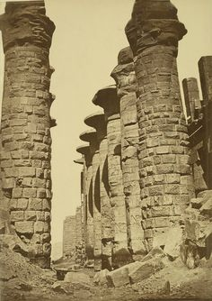 https://flic.kr/p/6AwkrF | Karnak. Temple of Amon, Hypostyle Hall | Collection: A. D. White Architectural Photographs, Cornell University Library Accession Number: 15/5/3090.01494  Title: Karnak. Temple of Amon, Hypostyle Hall  Building Date: ca. 1292 BC-ca. 1213 BC Photograph date: ca. 1865-ca. 1889   Location: Africa: Egypt; Karnak  Materials: albumen print  Image: 15.0394 x 10.6299 in.; 38.2 x 27 cm  Style: Egyptian  Provenance: Gift of Andrew Dickson White  Persistent URI…