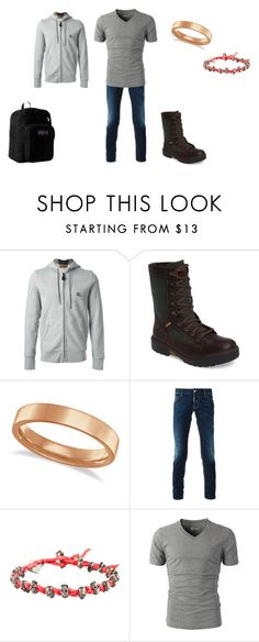 """""""Camping trip"""" by lydia-lee ❤ liked on Polyvore featuring Burberry, Timberland, Allurez, Dsquared2, M. Cohen, JanSport, men's fashion and menswear"""