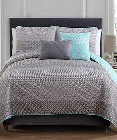 Look at this Gray Fayruz Quilt Set on #zulily today!