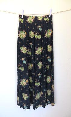 Floral Maxi Skirt // lavenderandlace.storenvy.com