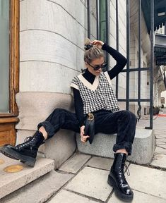 Adrette Outfits, Retro Outfits, Cute Casual Outfits, Vintage Outfits, Stylish Outfits, Winter Fashion Outfits, Look Fashion, Spring Outfits, Tomboy Fashion