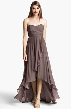 Strapless high/low dress - so cute!  @nordstrom