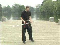 Nate Andrade teaching the The Eternal Bo Staff Trick Stick Fight, Wooden Dummy, Bo Staff, Staff Training, Self Defense Tools, Aikido, Taekwondo, Tai Chi, Kung Fu