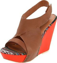 New Joe's Jeans Women's Tyra Wedge Sandal shoes size 6