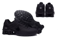 promo code 3c863 2c04c Nike Shox Deliver Men Shoes Total Black Casual Trainers Sneakers 317547 Nike  Barato, Tênis Nike