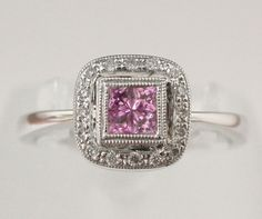 Pink Sapphire and Diamond Ring @LarcJewelers