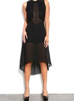 Black Sheer Dress with Built in Shorts & Top Detail,  Dress, black short sheer cutout back, Chic