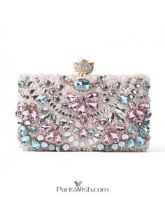 f62c9ac477 Buy wedding handbags, cocktail clutches, prom purse like Pink Blue Silver  Crystal Wedding Bags