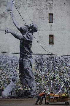 Artist JR #street art #graffiti