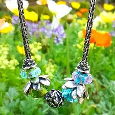 Thumbelina #trollbeads #necklace #flowergarden #giverny #silver #charm
