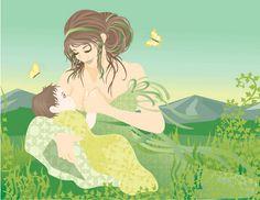 beautiful breastfeeding art.