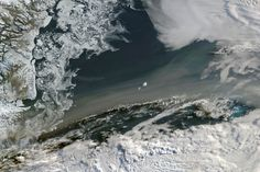 Spectacular photos from space...smoke over the Greenland Sea due to 2015 wildfires in Canada, Alaska,etc