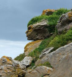 Rock face in France