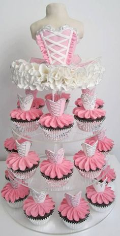 Ballerina Cupcake Tower by deloris