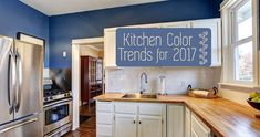 The latest kitchen color trends of 2017
