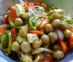 stirfried chickpea salad