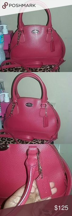 NEW!!! 💋COACH💋 Mini Dome Satchel?💋 This is a beautiful😍😍COACH😍😍MINI CORA DOME SATCHEL😍😍with Patent crossgrain leather!! The price is FIRM!!! NWOT!  💋Trade are welcomed 💋Bundles are welcomed 💋Paypal accepted 🛇Lowballers Rejected 😻PAYPAL ACCEPTED Coach Bags Satchels