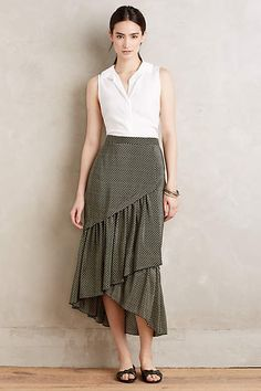 Tiered Silk Midi Skirt (Anthropology)  Start with Vogue 9173, modify by eliminating bottom layer of maxi skirt: http://voguepatterns.mccall.com/v9173-products-50918.php?page_id=263