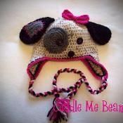 Puppy Beanie Crochet Pattern - via @Craftsy