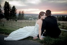"Beacon Hill October Wedding Reception - Matt Shumate Photography - Fall    ""beacon hill"" wedding portrait bride groom sunset ""natural light"""