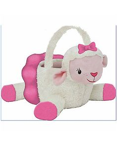 Doc McStuffins Lambie Plush Candy Bucket - Bring your stuffed animals to life when you complete your Halloween costume with the officially licensed Doc McStuffins Lambie Plush Candy Bucket.