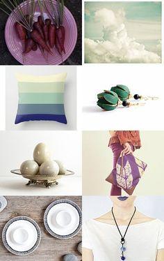 purple mint -- treasury by Barbara (BelleAccessoires.etsy.com)