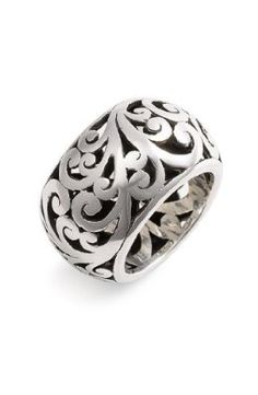 Lois Hill Cage Cigar Band Ring
