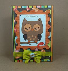 Use your #Cricut Art Philosophy and Create a Critter cartridges to create this card!