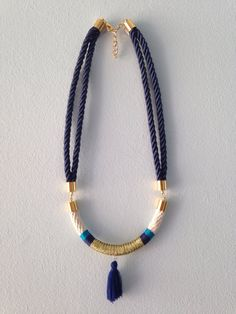 Blue Lagoon Rope Necklace by EclipticDesign on Etsy